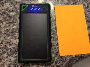 ZZero Solar Charging Phone charger a great stocking stuffer