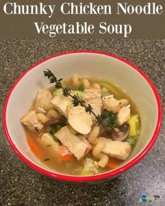 Chunky chicken noodle vegetable soup #12daysof