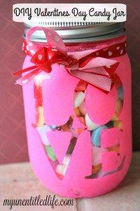 valentines day candy jar diy