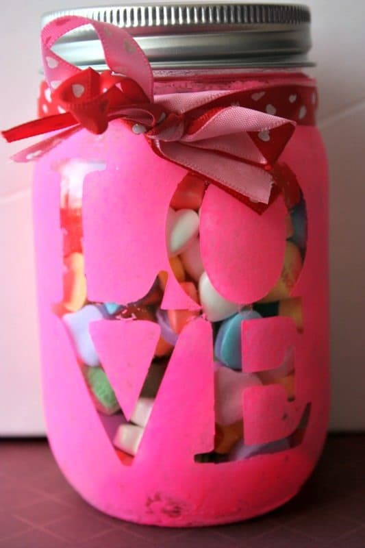 Valentines Day Candy Jar