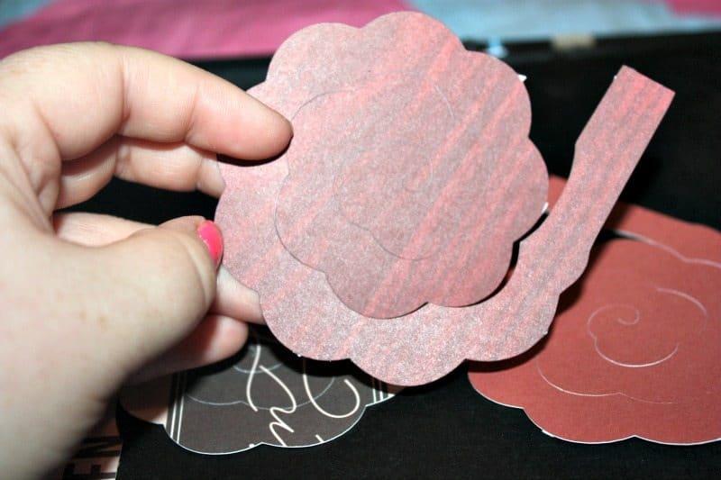 Paper Flower Shadow Box with Sizing & Quantity Charts - Jennifer Maker | 247x371
