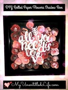 DIY Rolled Paper Flowers Shadow Box