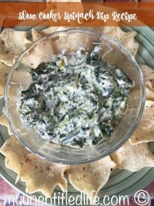 Spinach Dip in the Slow Cooker