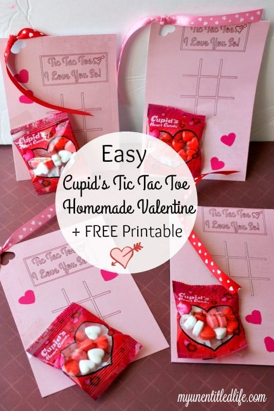 Make a cute Valentine's Day card for the kids and they can play a game of Tic Tac Toe too! Free Printable