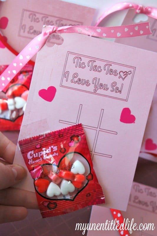 Cupids Tic Tac Toe Valentine