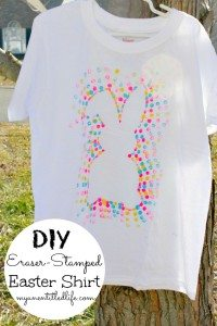 DIY Eraser-Stamped Easter Shirt