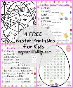 4 FREE Easter Printable Activities For Kids