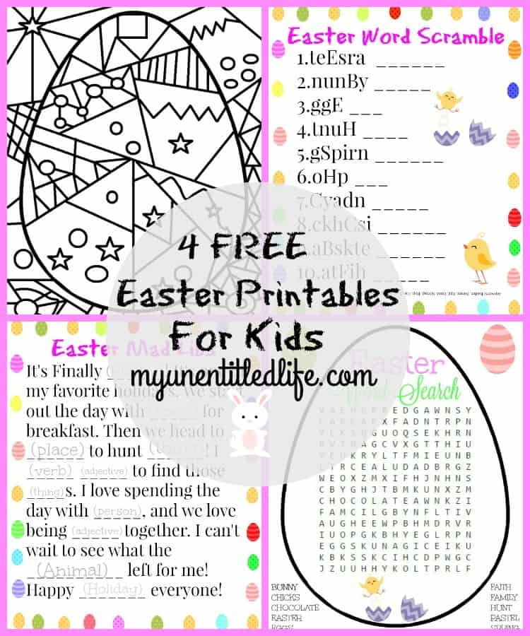 photo regarding Free Printable Easter Word Search called 4 Cost-free Easter Printable Functions For Young children