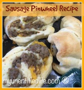 Sausage Pinwheels recipe quick, tasty and easy!