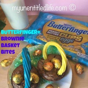 Butterfinger Brownie Basket Bites #ad @Butterfinger #EggcellentTreats @WalMart