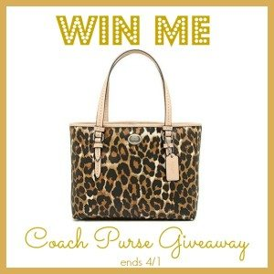 Coach Purse Giveaway 4/1 US