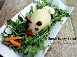Pear Salad Recipe aka Easter Bunny Salad