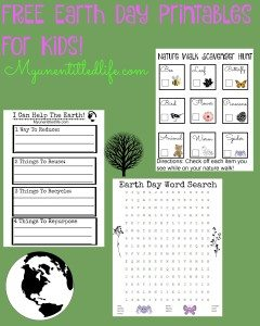 3 FREE Earth Day Printables For Kids!