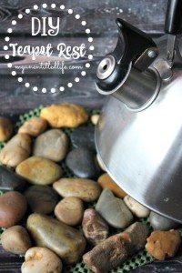 Simple DIY Rock Teapot Rest