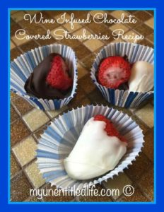 Wine Infused Chocolate Covered Strawberries Recipe for Mother's Day