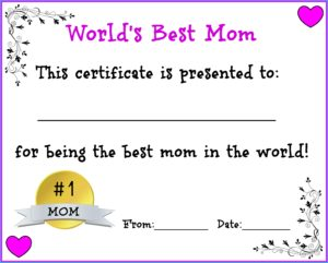 World's Best Mom, Aunt, Grandma free printable for Mother's Day