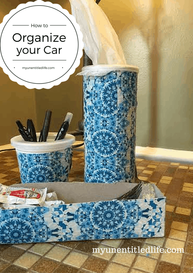are you looking for inexpensive ideas to keep your mobile office (car) organized? I've got them for you.
