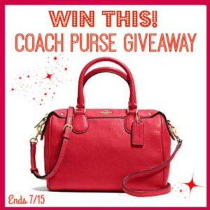 Coach Purse Giveaway 7/15 US