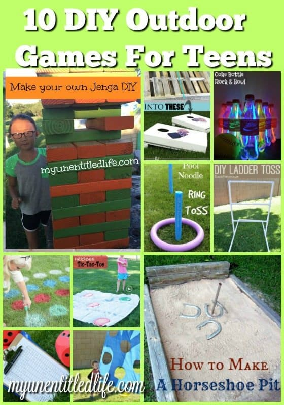 Need fun outdoor games for teens? Check out the 10 diy outdoor games for teens and tweens.