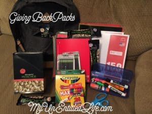 Give Backpacks and give back #GivingBackPacks
