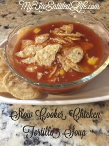 Slow Cooker chicken tortilla soup recipe makes dinner delicious