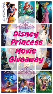 Disney Princess Movie Giveaway 10/10 US