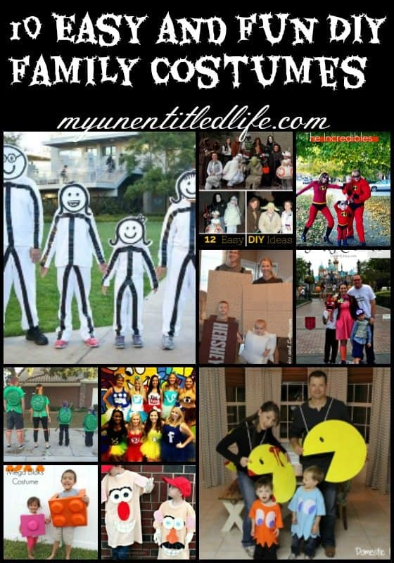 10 Easy and Fun DIY Family costumes great ideas for this halloween
