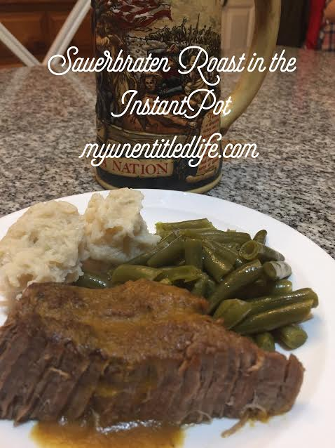 Sauerbraten roast made in a pressure cooker or instant pot. Its so delicious, flavorful and moist it will replace your regular roast recipe