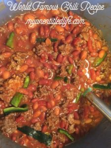 world famous chili recipe