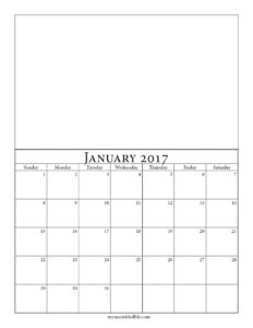 months of the year calendar printable