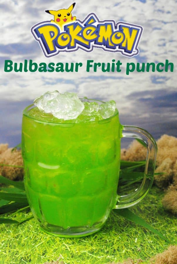 Looking for a fun drink for a party? Why not make my pokemon inspired drink bulbasaur fruit punch!
