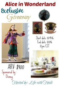 Alice In Wonderland Giveaway $400 ARV 11/1 US