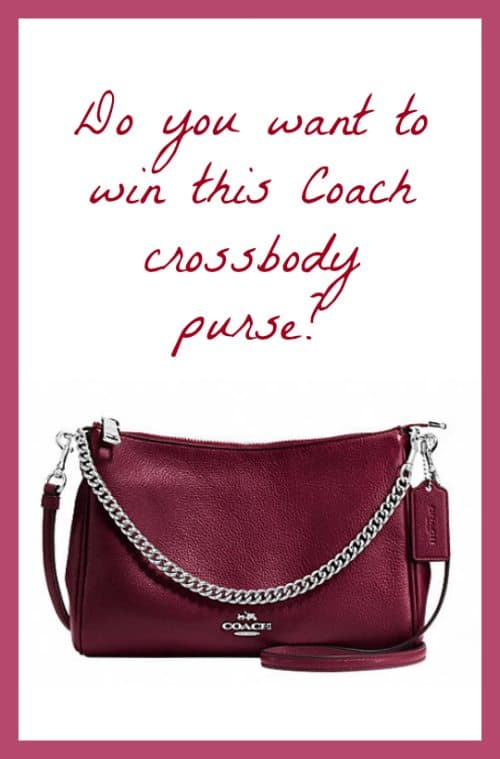 Coach purse giveaway 10/28 US