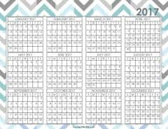 desktop calendar 2017 printable
