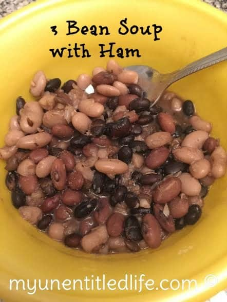 3 bean soup with ham