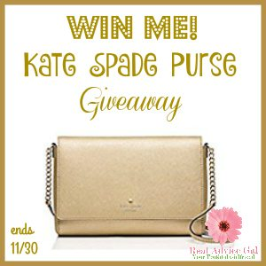 Enter to win a beautiful Kate Spade purse 11/30 US