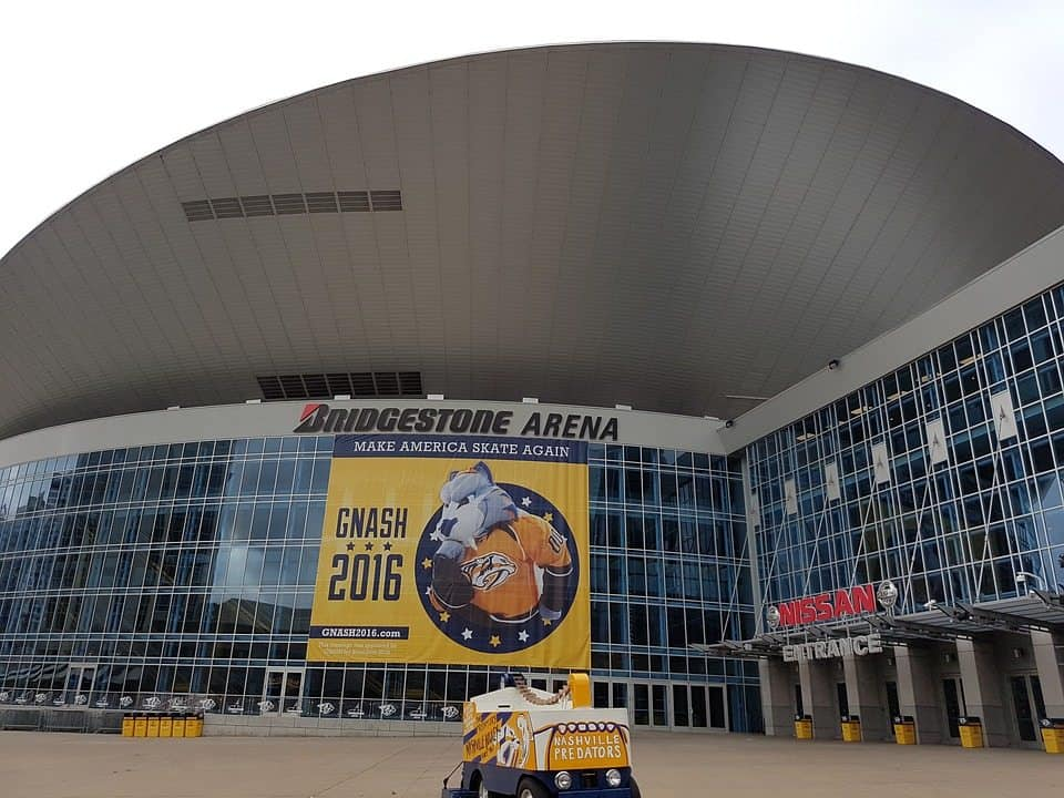 bridgestone arena downtown nashville