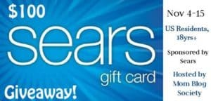 $100 Sears Giveaway 11/15 US