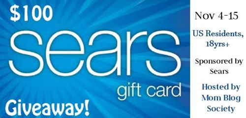 Enter to win $$100 to spend at Sears 11/15 US