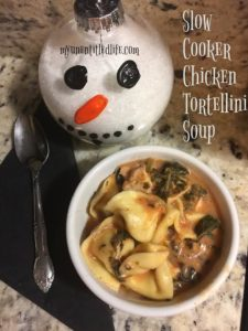 Chicken tortellini soup in the slow cooker