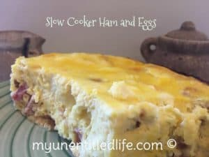 Overnight Breakfast Eggs and Ham in the slow cooker Thanksgiving Leftovers