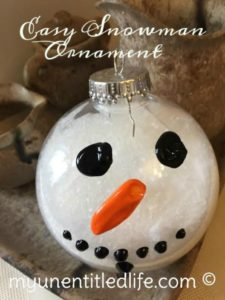 snowman ornament craft quick and easy