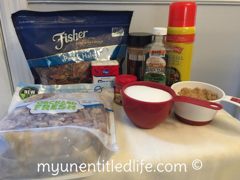 sugar and spice nuts in the slow cooker