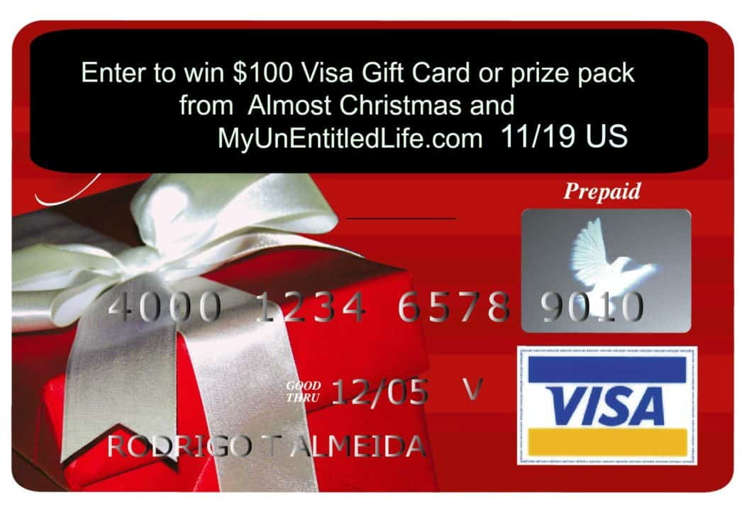 You can win either $100 visa or 3 prize packages all from Almost Christmas!
