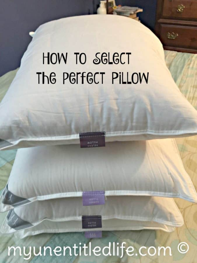how to select the perfect pillow