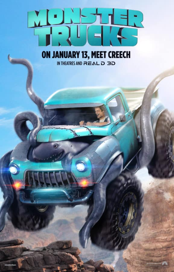are you wondering what the new Monster Trucks movie is about? I've got the trailers and more!