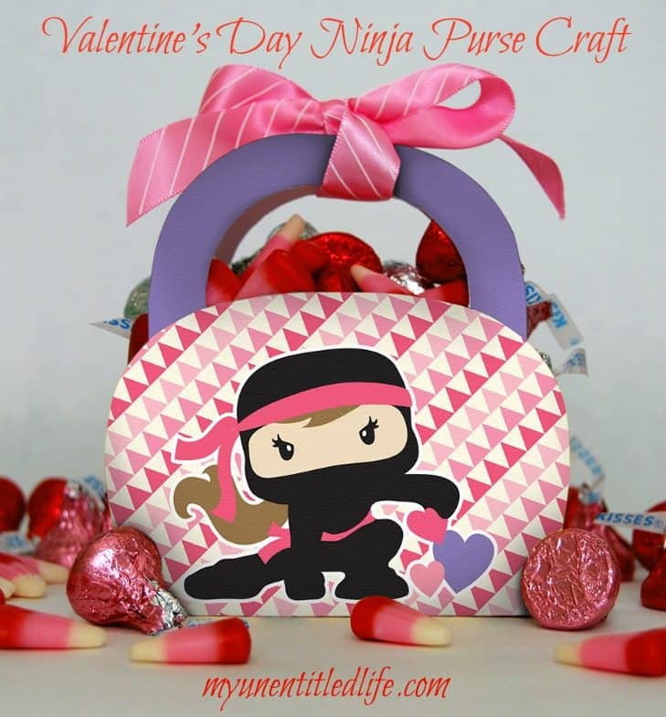 valentine day craft purse