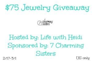7 Charming Sisters Jewelry Giveaway 3/1 US