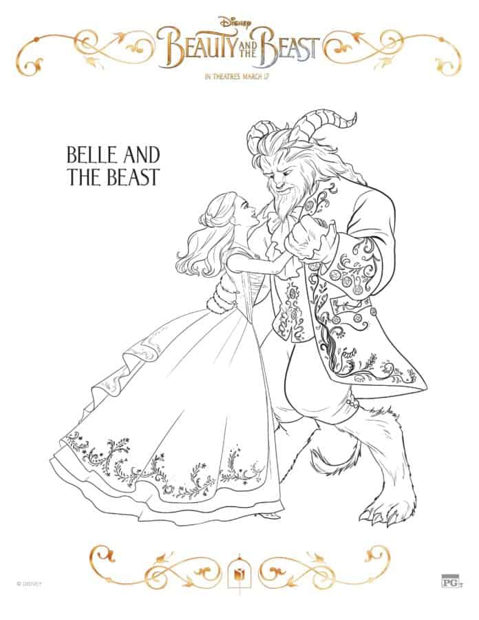 Are you wanting some coloring sheets for the kids to color? I've got Beauty and the Beast printables here for you!