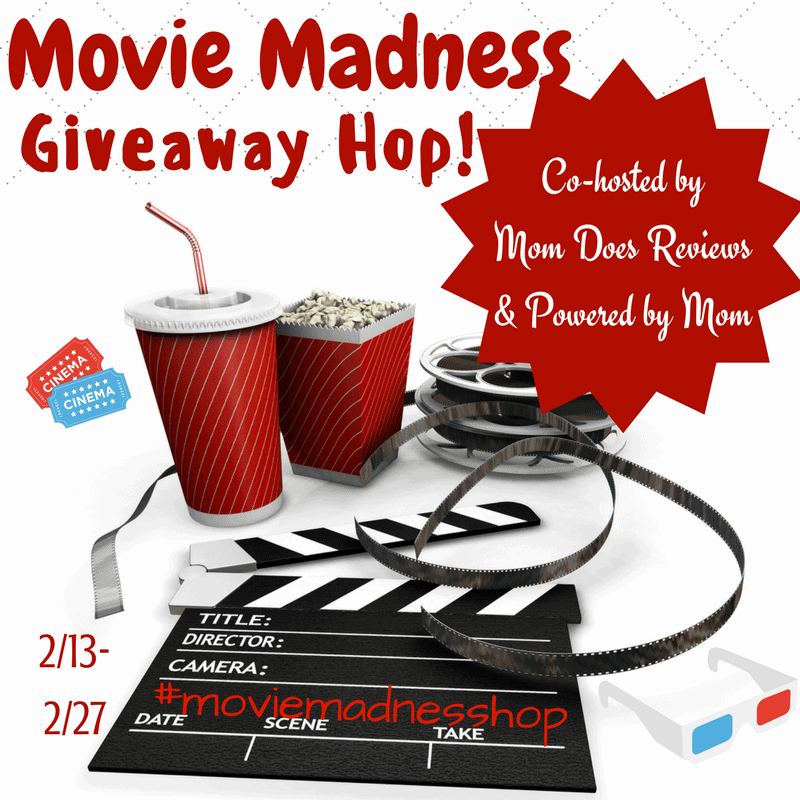 Enter to win lots of fun movies from our Movie Madness Giveaway hop